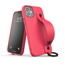 adidas OR Hand Strap Case FW20 for iPhone 12 mini signal pink