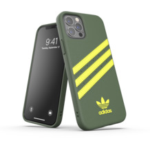 adidas OR Moulded Case PU FW20 for iPhone 12 / 12 Pro wild pine/acid yellow
