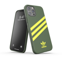 adidas OR Moulded Case PU FW20 for iPhone 12 Pro Max wild pine/acid yellow