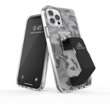 adidas SP Clear Grip Case FW20 for iPhone 12 / 12 Pro grey/black
