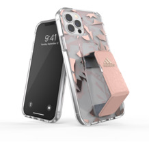 adidas SP Clear Grip Case FW20 for iPhone 12 / 12 Pro pink tint