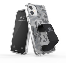 adidas SP Clear Grip Case FW20 for iPhone 12 mini grey/black