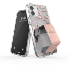 adidas SP Clear Grip Case FW20 for iPhone 12 mini pink tint
