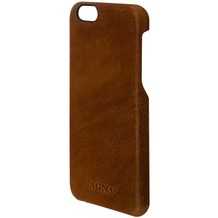 AGNA iPlate Real Leather for iPhone 7 cognac