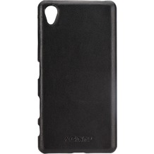 AGNA iPlate Real Leather for Xperia X schwarz