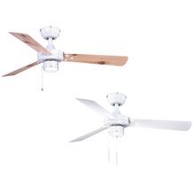 AireRyder Cyrus Deckenventilator Weiß mit Wendeflügeln in Weiß / Kiefer, ohne Beleuchtung, Durchmesser 107 cm