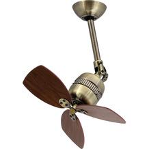 AireRyder Schwenkbarer Deckenventilator Toledo in Messing antik mit Flügelfarbe Walnuss, 46 cm