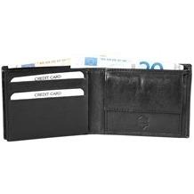 Akzent Herren Geldbörse aus Echtleder. Format 11 x 8 cm. 3000020-001