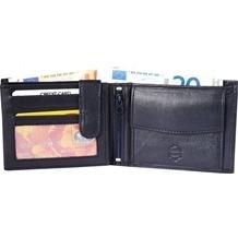Akzent Herren Geldbörse aus Echtleder. Format 12 x 9 cm. 3000022-002