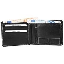 Akzent Herren Geldbörse aus Echtleder. Format 12 x 9 cm. Schwarz 3000031-001