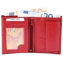 Akzent Herren Geldbörse aus Echtleder. Format 9 x 12 cm. Rot 3000032-003