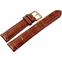 Akzent Hochwertiges AKZENT Lederband 20mm - dunkelbraun 865070700320