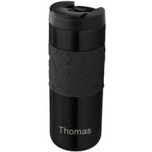 aladdin Isolierbecher Easy Grip MIT GRAVUR (z.B. Namen) 470ml schwarz aus Edelstahl Thermobecher 100% auslaufsicher