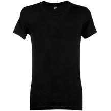 Alan Red JAMES T-SHIRT, SLIMFIT, low O-NECK black S