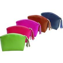 Alassio Handtaschen-Etui / Cosmetic Bag Leder  blau