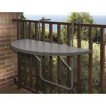ALCO Balkonhängetisch, Stahlrohruntergestell, kunststoffbeschichtete Platte anthrazit, L 100 x B 50 cm