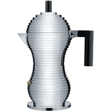 Alessi Espressokocher PULCINA 30 cl, schwarz