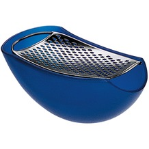 Alessi PARMENIDE Reibe mit Käsedose, blau