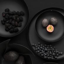 Alessi Schale mit Metallic-Relief, schwarz