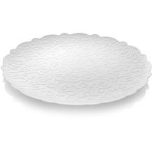 Alessi Tablett mit Relief, weiß 35 cm