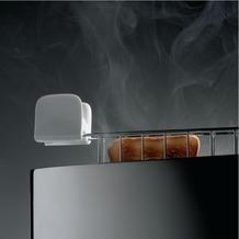 Alessi Toaster mit Brötchenaufsatz Edelstahl