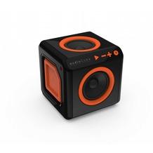allocacoc audioCube, Bluetooth Lautsprecher im Cube Design, schwarz / orange