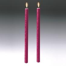 Amabiente Kerze CLASSIC fuchsia 40cm - 2er Set