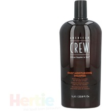 American Crew Daily Moisturizing Shampoo For All Types of Hair, Feuchtigkeitsshampoo 1000 ml