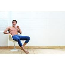 AMMANN Hose 3/4 lang mit Eingriff, Serie Jeans, dunkelblau 5