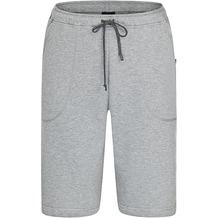 AMMANN Hose kurz, Sweat, Sportbund mit Kordel, Taschen, grau melange 50