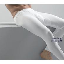 AMMANN Hose lang mit Eingriff, Serie Doppelripp 2-fädig Exquisit, weiß 5