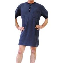 AMMANN Nachthemd 1/2 Arm, Knopfleiste, Brusttasche, blau 48