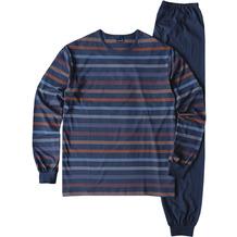 AMMANN Schlafanzug lang, Rundhals, black iris 48