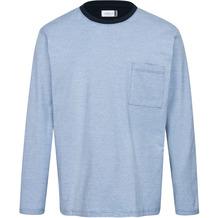 AMMANN Shirt 1/1 Arm, Rundhals, Brusttasche, azur S
