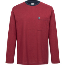 AMMANN Shirt 1/1 Arm, Rundhals, Brusttasche, wildkirsche Gr. S