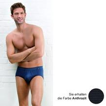 AMMANN Slip mit Eingriff, Serie Jeans, anthrazit 5