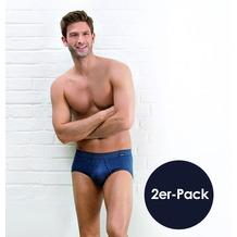 AMMANN Slip mit Eingriff, Serie Jeans, dunkelblau Gr. 6 2er-Set
