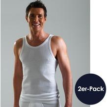 AMMANN Sport-Jacke, Serie Doppelripp 2-fädig Exquisit, weiß Gr. 5 2er-Set