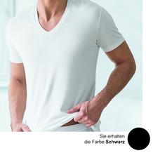 AMMANN V-Shirt, Serie Cotton de Luxe, schwarz 5