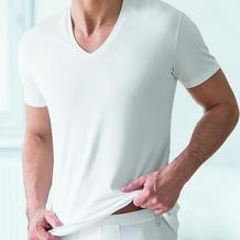 AMMANN V-Shirt, Serie Cotton de Luxe, weiß 5