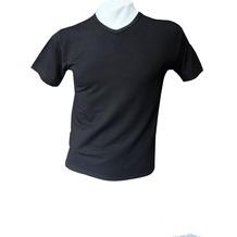 AMMANN V-Shirt, Serie Cotton & More, schwarz 5