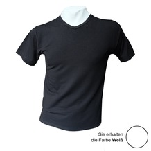 AMMANN V-Shirt, Serie Cotton & More, weiß 5