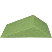 Amstyle 3D Akustik-Wandpaneel CALM Schalldämmung Grün mit Stoffbezug, Schallschutz für die Wand