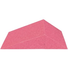 Amstyle 3D Akustik-Wandpaneel CALM 60,5x30,5x15cm Schalldämmung Pink mit Stoffbezug, Schallschutz für die Wand, Schallabsorber Platten Büro, Akustikpaneel farbig, Design Schalldämpfer Absorber pink
