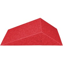 Amstyle 3D Akustik-Wandpaneel CALM 60,5x30,5x15cm Schalldämmung Rot mit Stoffbezug, Schallschutz für die Wand, Schallabsorber Platten Büro, Akustikpaneel farbig, Design Schalldämpfer Absorber rot