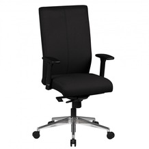 Amstyle Bürostuhl Adrian schwarz Stoffbezug Drehstuhl mit 3-Punkt Synchromechanik