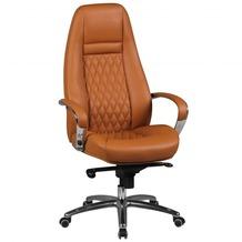 Amstyle Bürostuhl AUSTIN Echt-Leder Caramel Schreibtischstuhl 120KG Chefsessel hohe Rückenlehne mit Kopfstütze X-XL