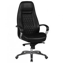 Amstyle Bürostuhl AUSTIN Echt-Leder Schwarz 120KG Chefsessel hohe Rückenlehne mit Kopfstütze X-XL