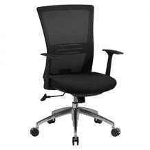 Amstyle Bürostuhl BASELINE Stoffbezug Schreibtischstuhl Armlehne schwarz Chefsessel 120kg
