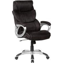Amstyle Bürostuhl Bezug Stoff Schwarz Schreibtischstuhl bis 120 kg, XXL Design Chefsessel Höhenverstellbar, Drehstuhl mit Armlehnen & hoher Rückenlehne schwarz